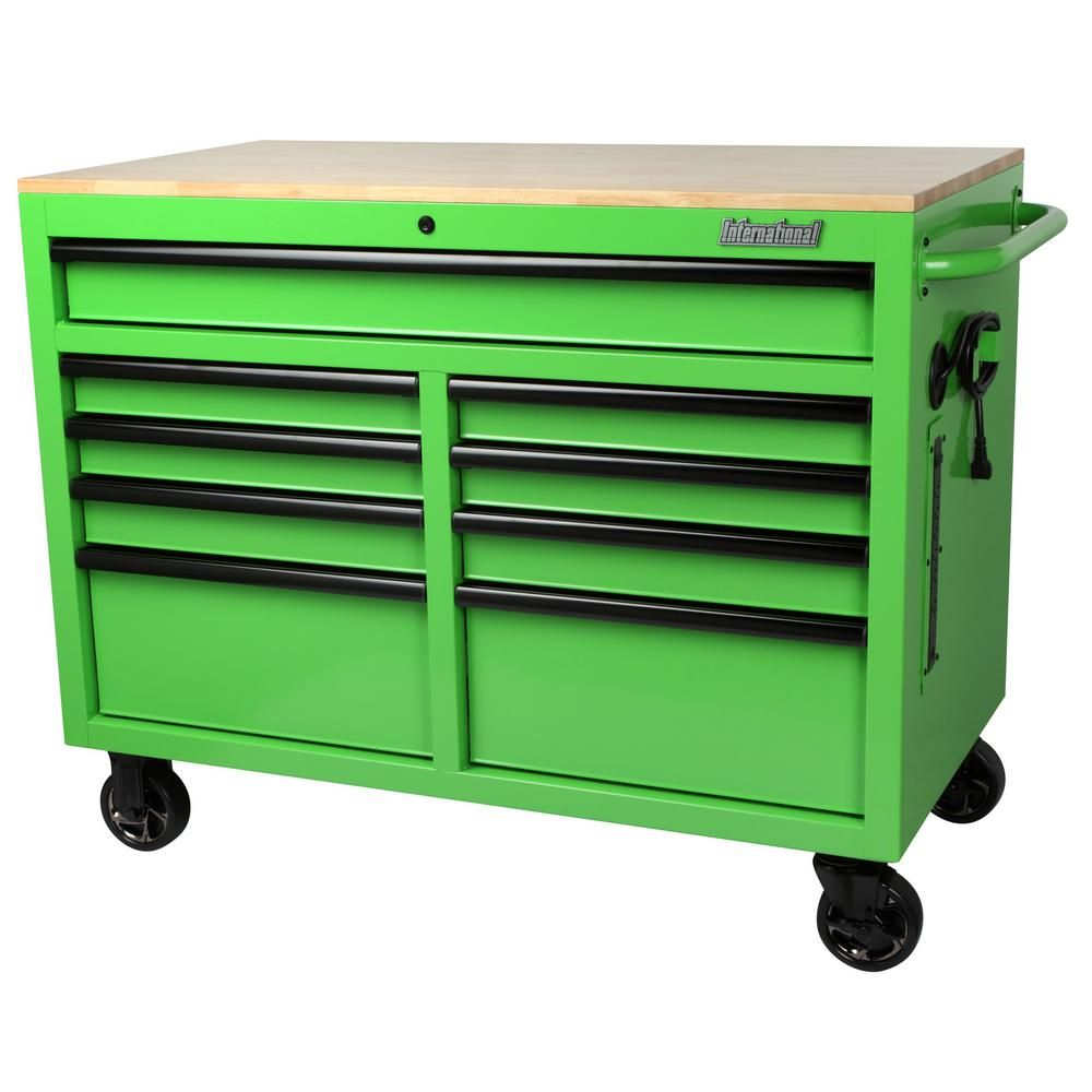 International 46 in. W x 24.5 in. D 9-Drawer Tool Chest ...