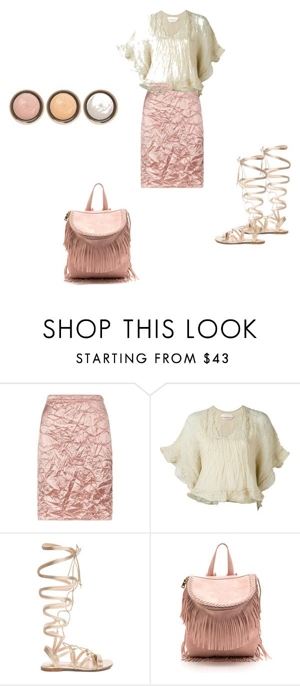 """""""Crinkly"""" by northcoastcottagejewelry ❤ liked on Polyvore featuring Nina Ricci, See by Chloé, Gianvito Rossi and By Terry"""