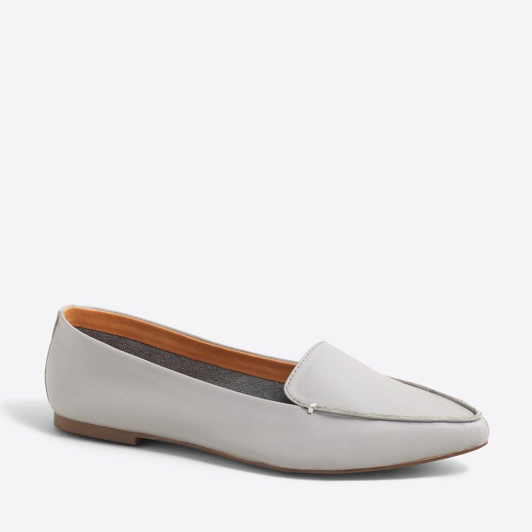600a11177de Edie leather loafers   FactoryWomen Flats
