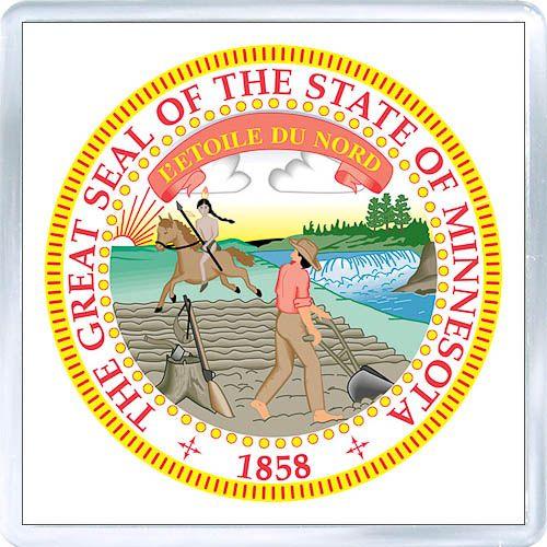 3 29 Acrylic Fridge Magnet United States Seal Of Minnesota