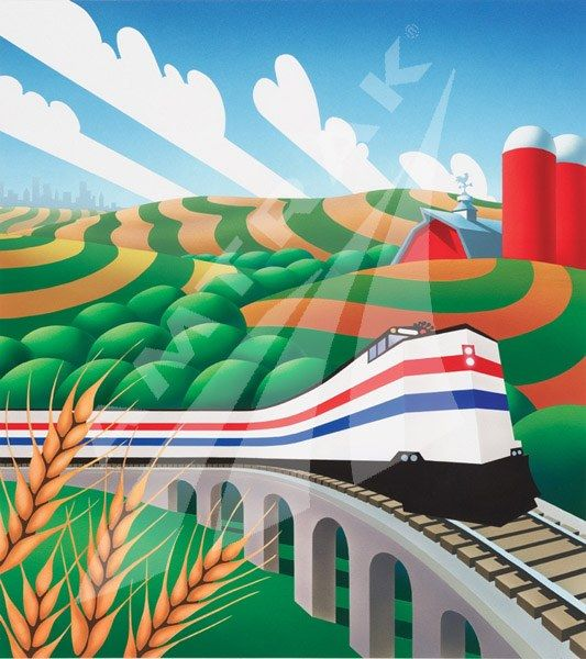 amtrak poster art | Farm Country — Amtrak: History of America's Railroad
