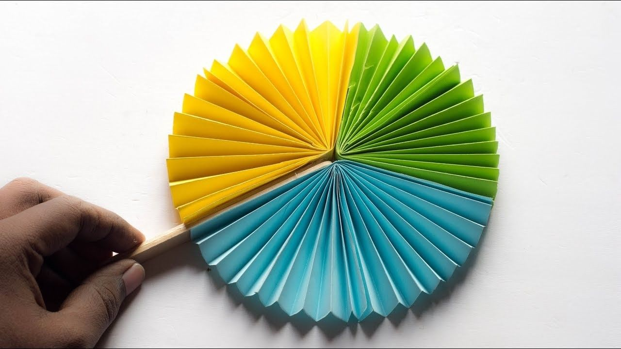 Hand Fan How To Make Paper Hand Fan Try At Home Diy Hand