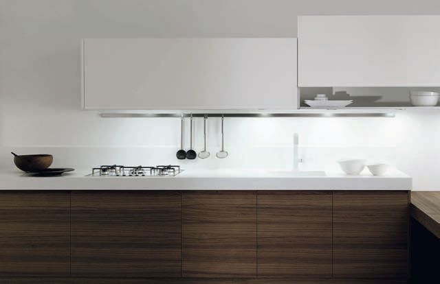 Muebles de cocina minimalistas modelos Cusan Nogal y Sedamat Mate ...