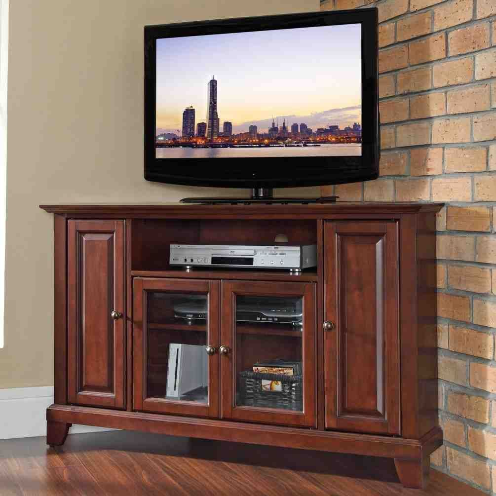 Corner TV Armoire For Flat Screen TVs
