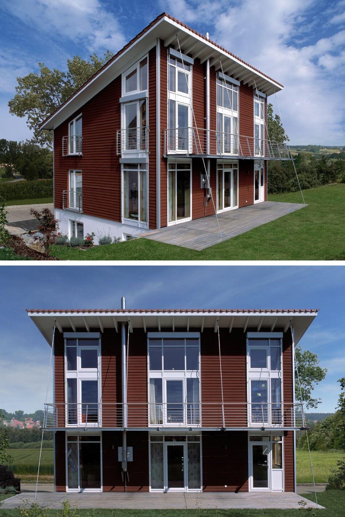 Moderne Holzhäuser Architektur modernes passivhaus mit pultdach haus krämer baufritz