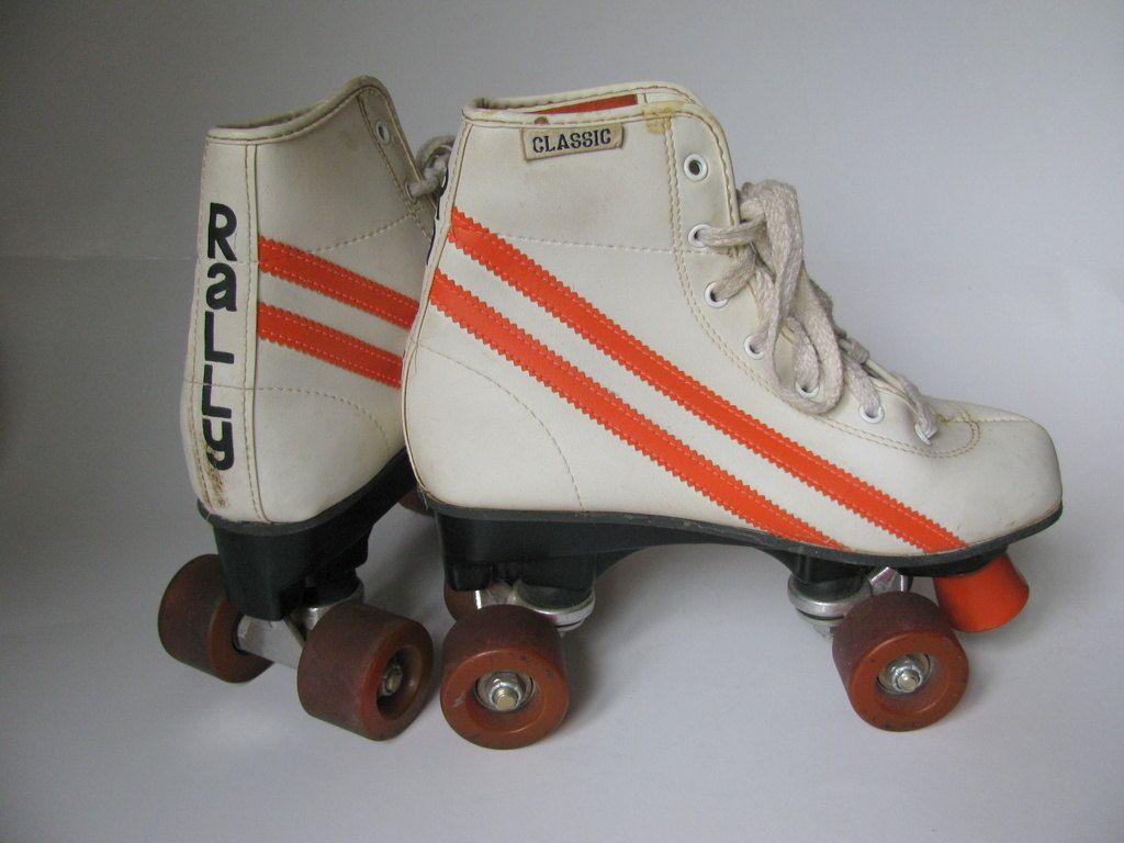Roller skates queensland - Sale Vintage Rally Roller Skates With Orange Racing Stripes For Girls Size 4 25 00