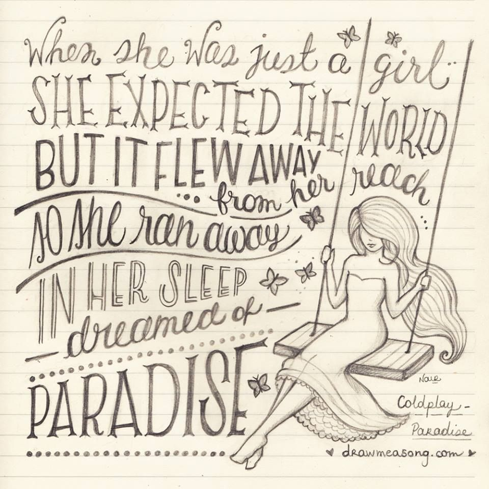 Paradise Coldplay Words Pinterest Musica Poesía And