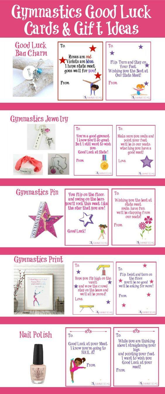 Gymnastics good luck gift ideas along with free printable good luck ...