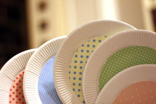 Dress up plain paper plates.