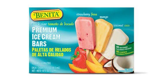 Benita Snack Size Premium Ice Cream Bars From Aldo Only
