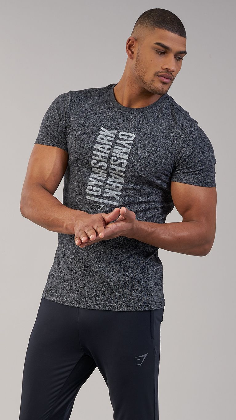01d57c78d6a2 Boasting a centralised, washed out screen print design, the Statement T- Shirt offers subtle style with a Gymshark twist. Coming soon in Black.