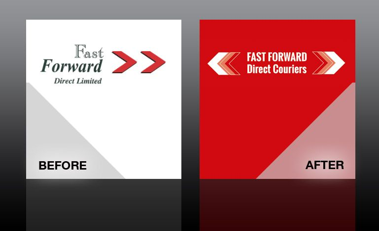 Before after logo design refresh for fast forward direct couriers before after logo design refresh for fast forward direct couriers logodesign peterborough colourmoves