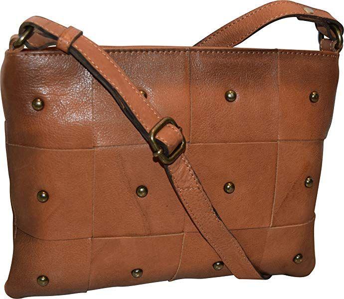 Paul  amp  Taylor Women s Vintage Genuine Leather Zippered Crossbody Bag  Handbag (Camel)  3a0ed2ff9c8f7
