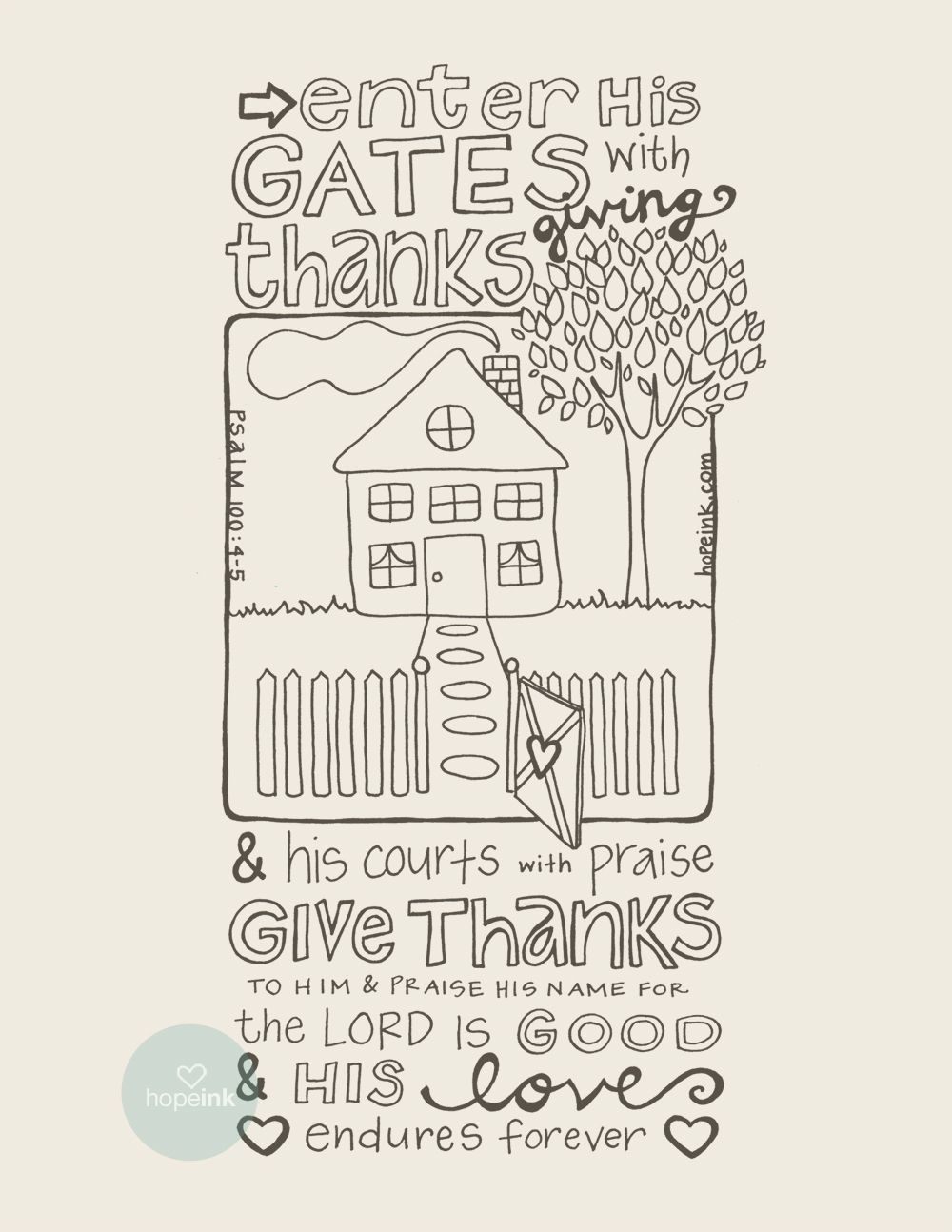 love these for any time of year! coloring sheets from Hope Ink ...
