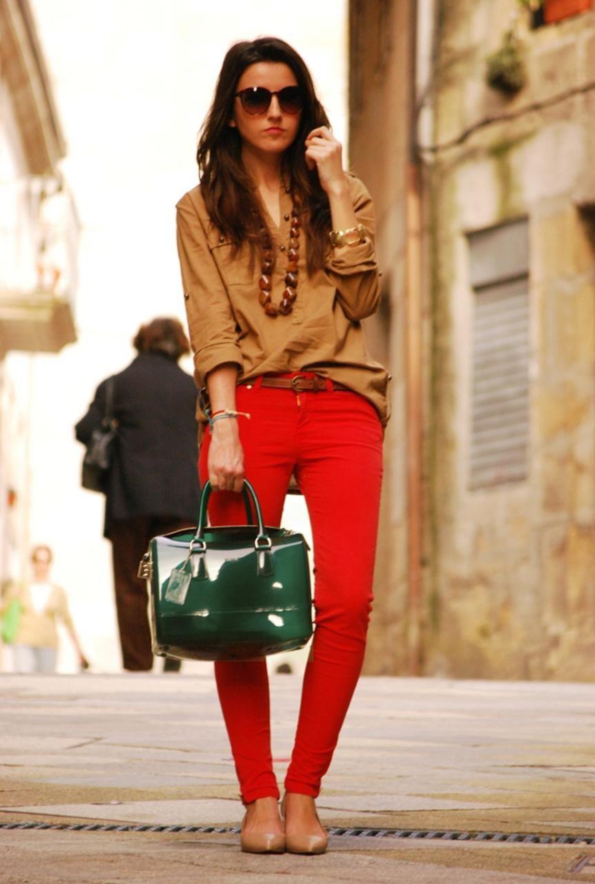 fine outfit rojo y marron 2