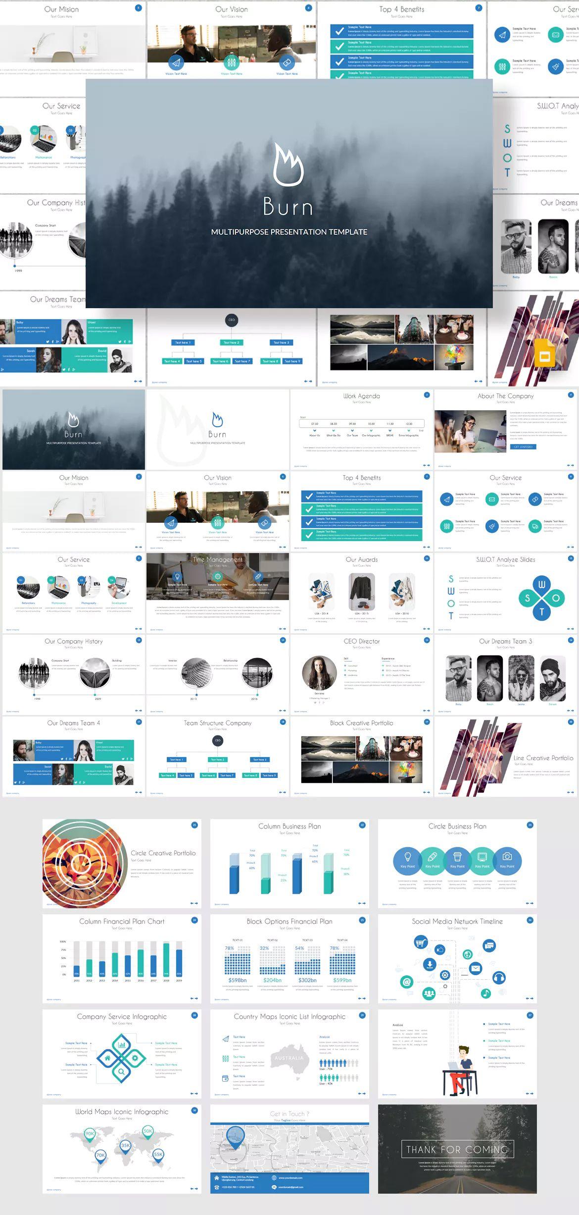 Burn Google Slides Template By Inspirasign On Powerpoint