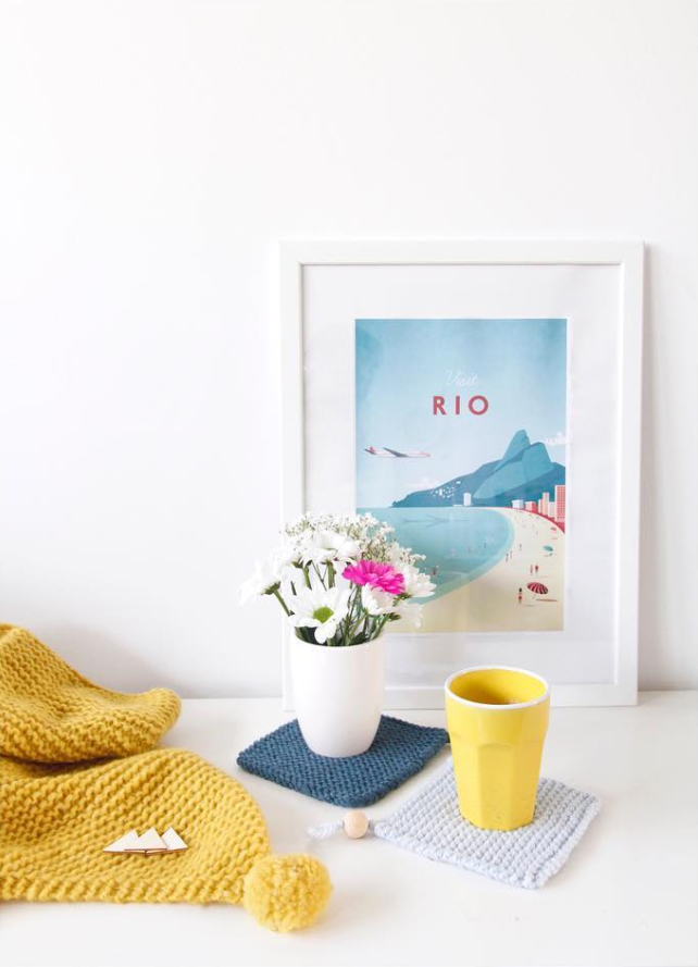 Rio Vintage Travel Poster | TRAVEL POSTER Co  (wall art