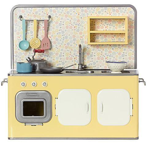 Maileg Metal Kitchen Set Retro Kokken Play Kitchens