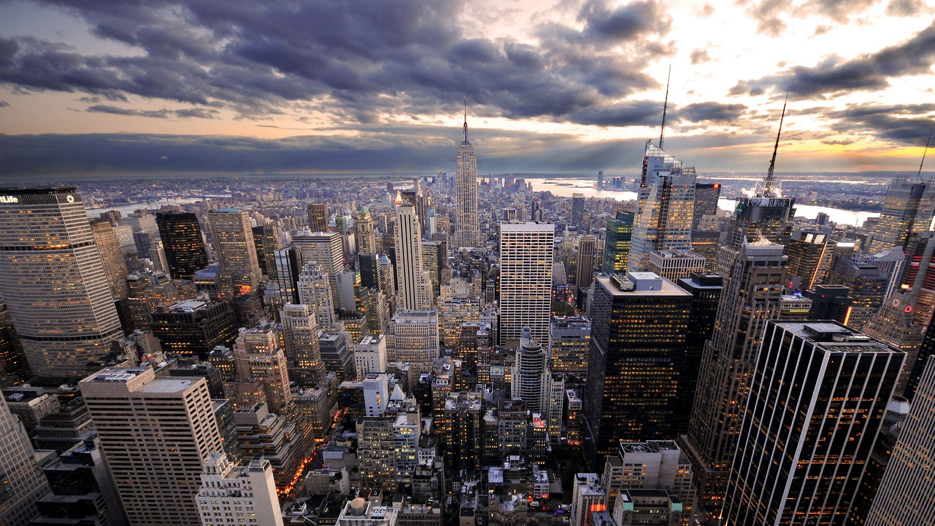 Buildings City New York City Citta Skyline Skyline Della Citta