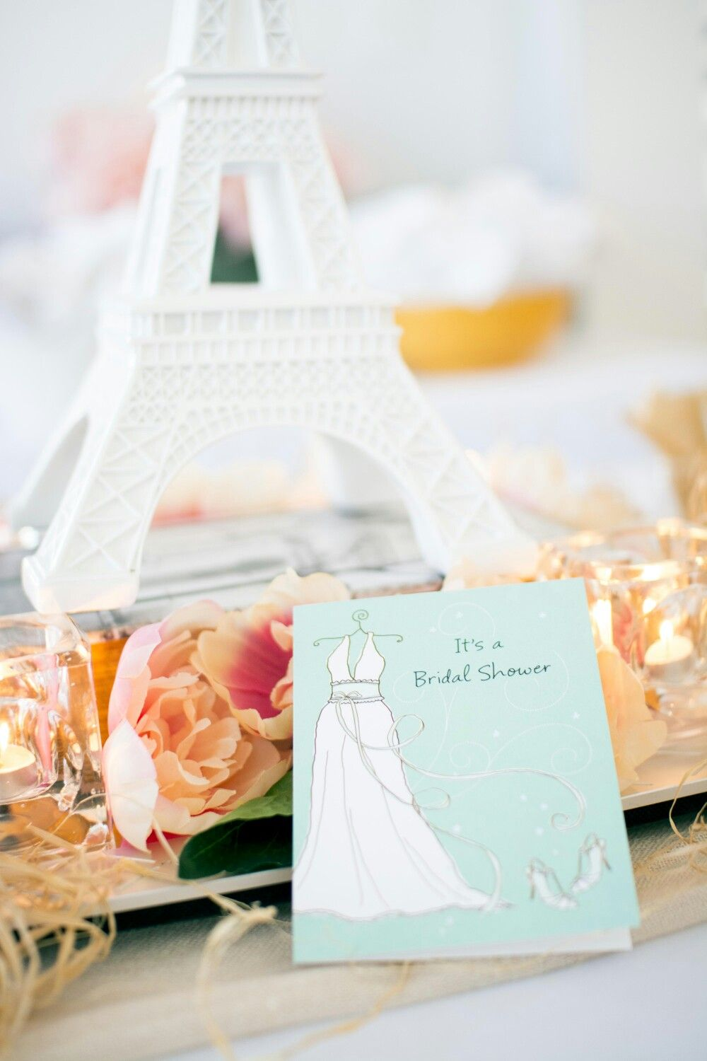 Paris Themed Bridal Shower | At Home DIY | Light Pink and White ...