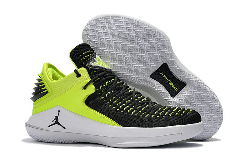 75c17ecfef67 2018 Cheap Priced Air Jordan 32 Low XXXII PE Low Black Green Hot Sale -  Click