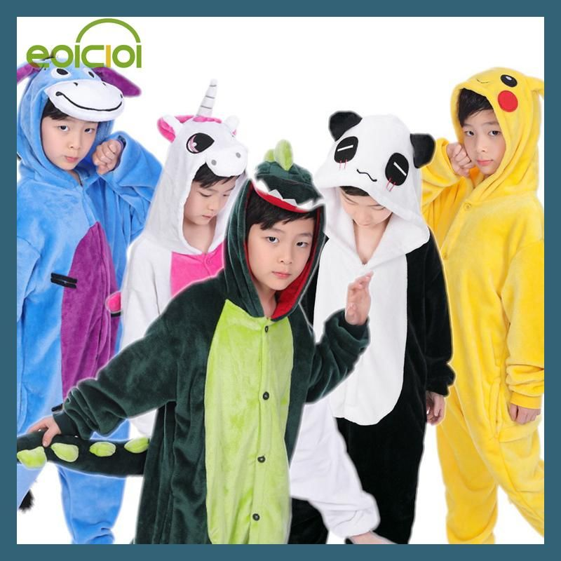 Christmas pajamas Kids Boys Girls pijama Children s Onesie Cosplay Animal  Totoro unicornio Pikachu Dinosaur Panda pyjama 1015bdb58
