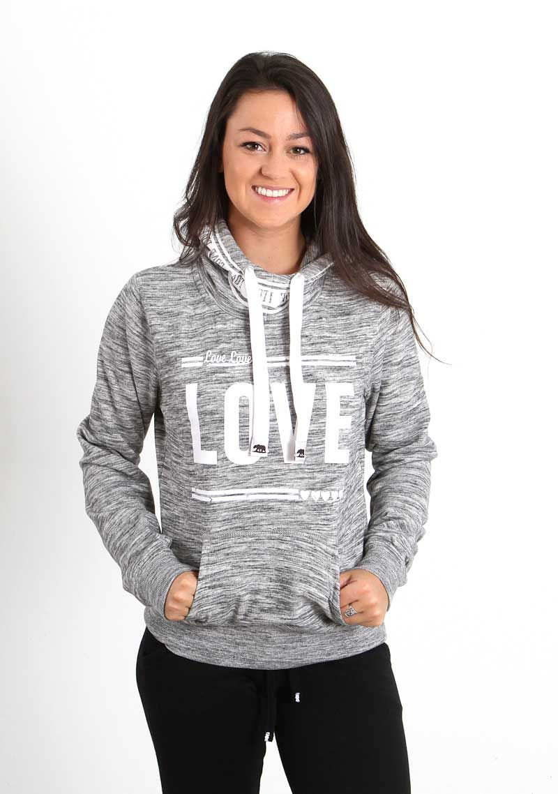 3e9bd7a3a50bff Reflex Clothing Love Hoodie for Women in Marled Charcoal J315-MCHAR ...