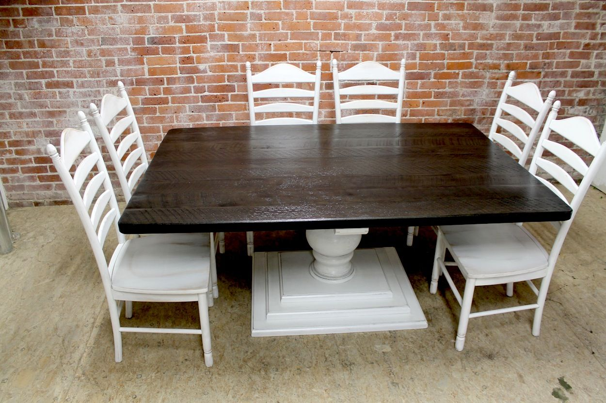 Large square farm table in 2020 square kitchen tables