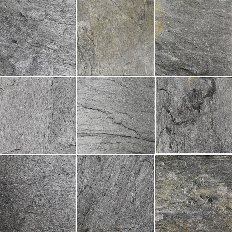 Silver Shine Natural Cleft 12x12 Slate Tile In 2020 Slate Tile Slate Earthy Tones