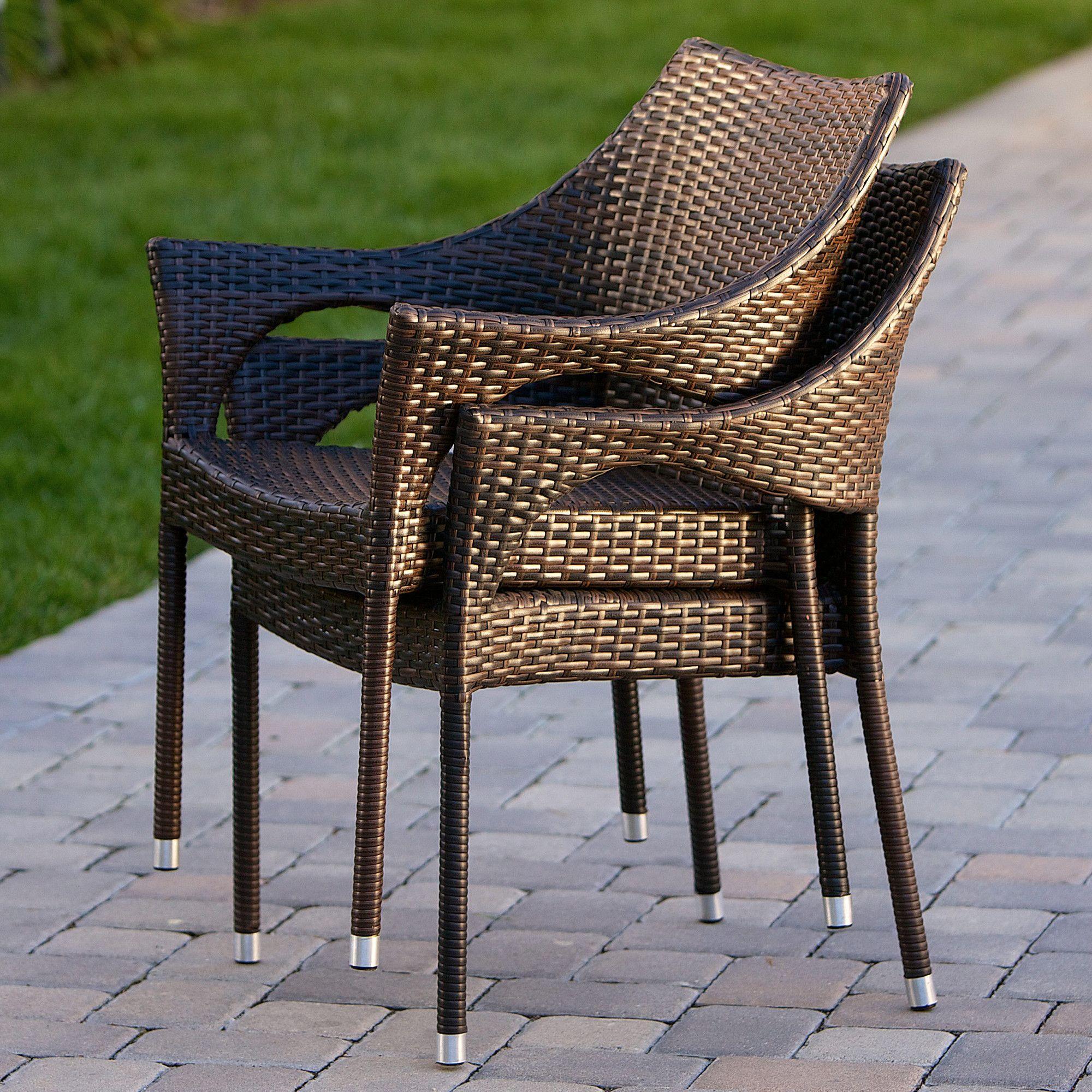 Home Loft Concept Norm Outdoor Wicker Chairs (Set Of 2) U0026 Reviews | Wayfair