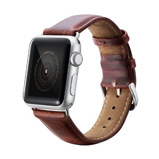 Benuo Echtes Leder Armband Mit Metall Schliesse Uhrenarmband Ersatzband Fur Apple Watch Series 1 Series 2 Nike 4 Armband Leder Armband Apple Watch Zubehor