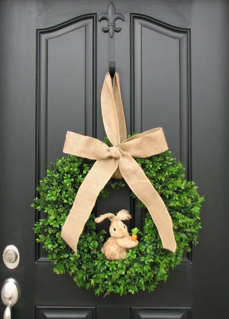 Photo of 19 ideas for Easter wreaths to decorate your door