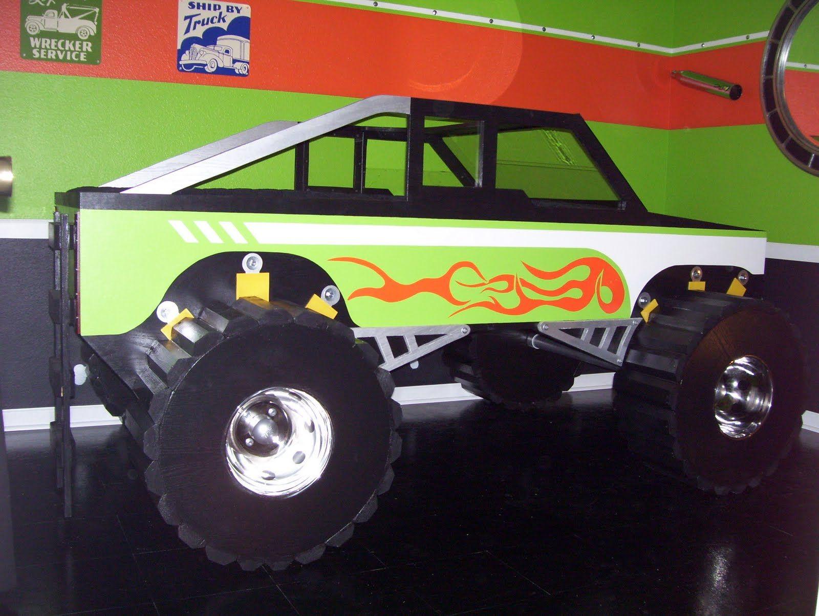 Toddler boy truck bedroom ideas - 12 Appealing Monster Truck Beds For Kids Photo Inspiration