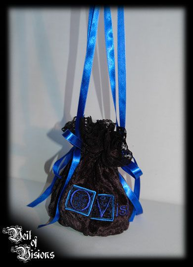 """A lovely purse in black velvet with wonderful """"Veil Of Visions"""" embroidery! £35"""