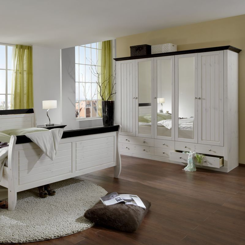 Schlafzimmer Monaco 4tlg. Set komplett White Wash - kolonial gebeizt ...