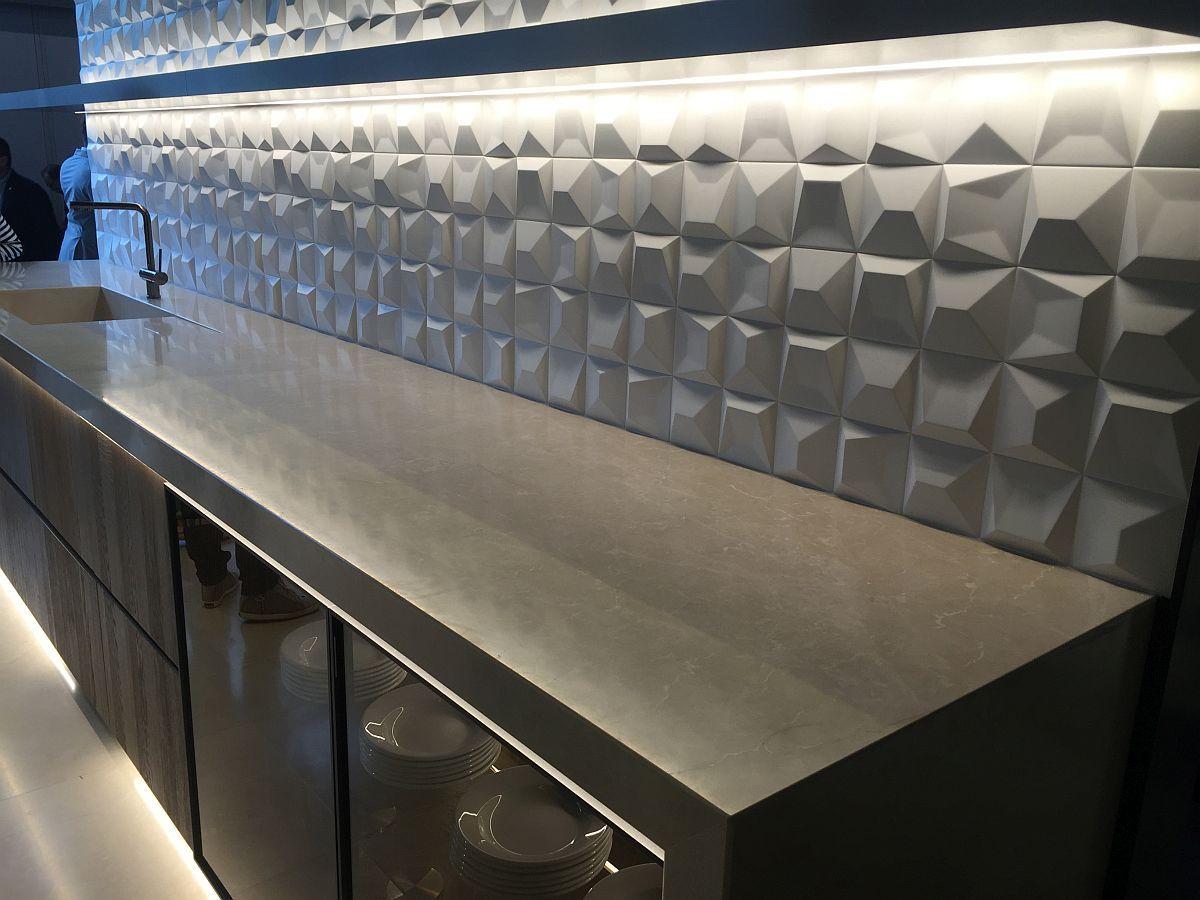 3d Geometric Tiled Backsplash For The Kitchen Decoist Backsplash Geometric Tile Backsplash Kitchen Backsplash