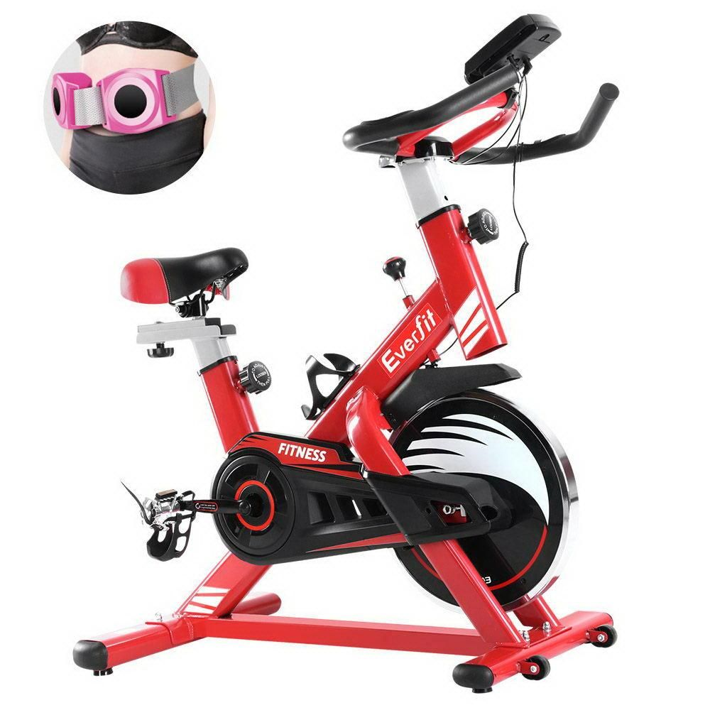 Exercise Spin Bike Cycling Fitness Commercial Home Workout Gym Equipment Red In 2020 Spin Bike Workouts Biking Workout Cycling Workout