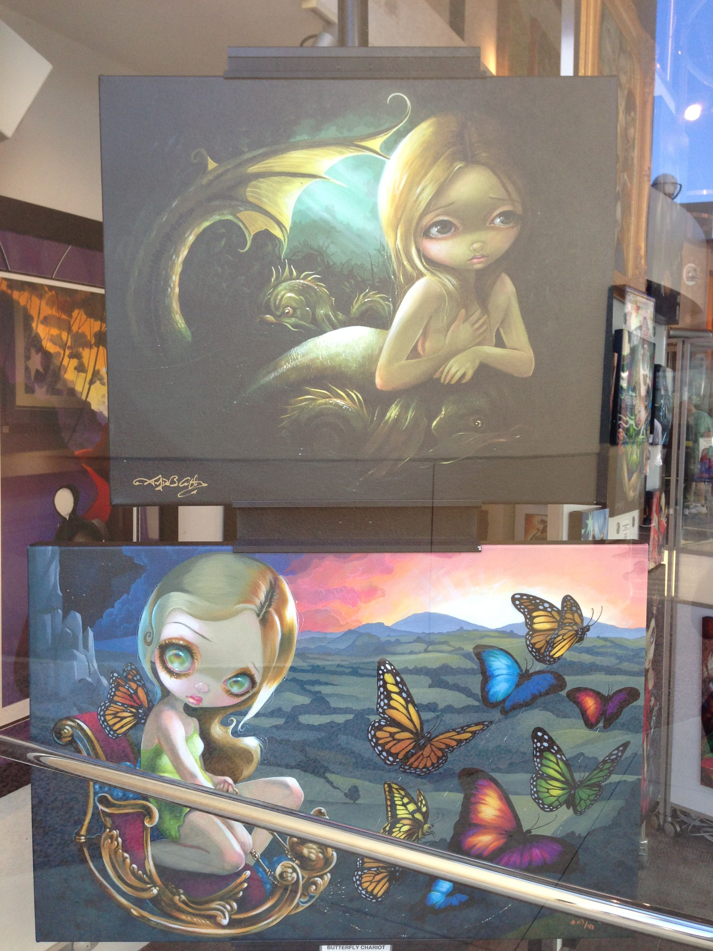 Blythe art from the pop gallery at downtown disney they donut say