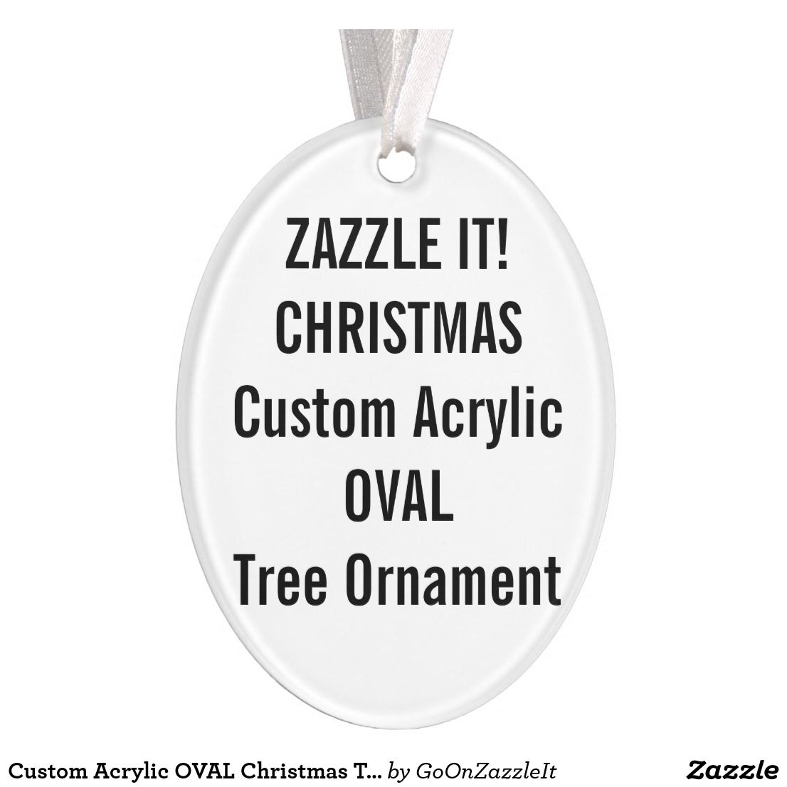 Blank ornaments to personalize - Custom Acrylic Oval Christmas Tree Ornament Blank