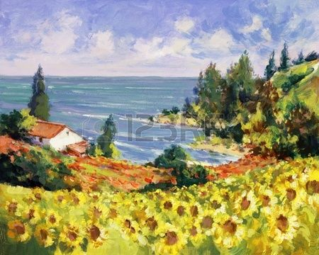 paisajes para pintar con acrilico