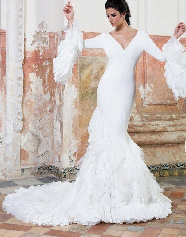 vestidos de novia flamencos: ¡para novias con mucho arte! | boda