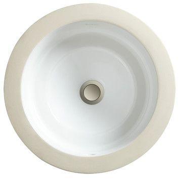 12.6 outside undermount  Porcher Marquee Petite Round Small Undermount Bathroom Sink