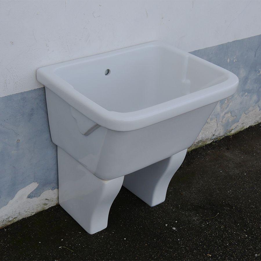 Vasca lavatoio Marna con muriccioli d'appoggio 75x60 nel