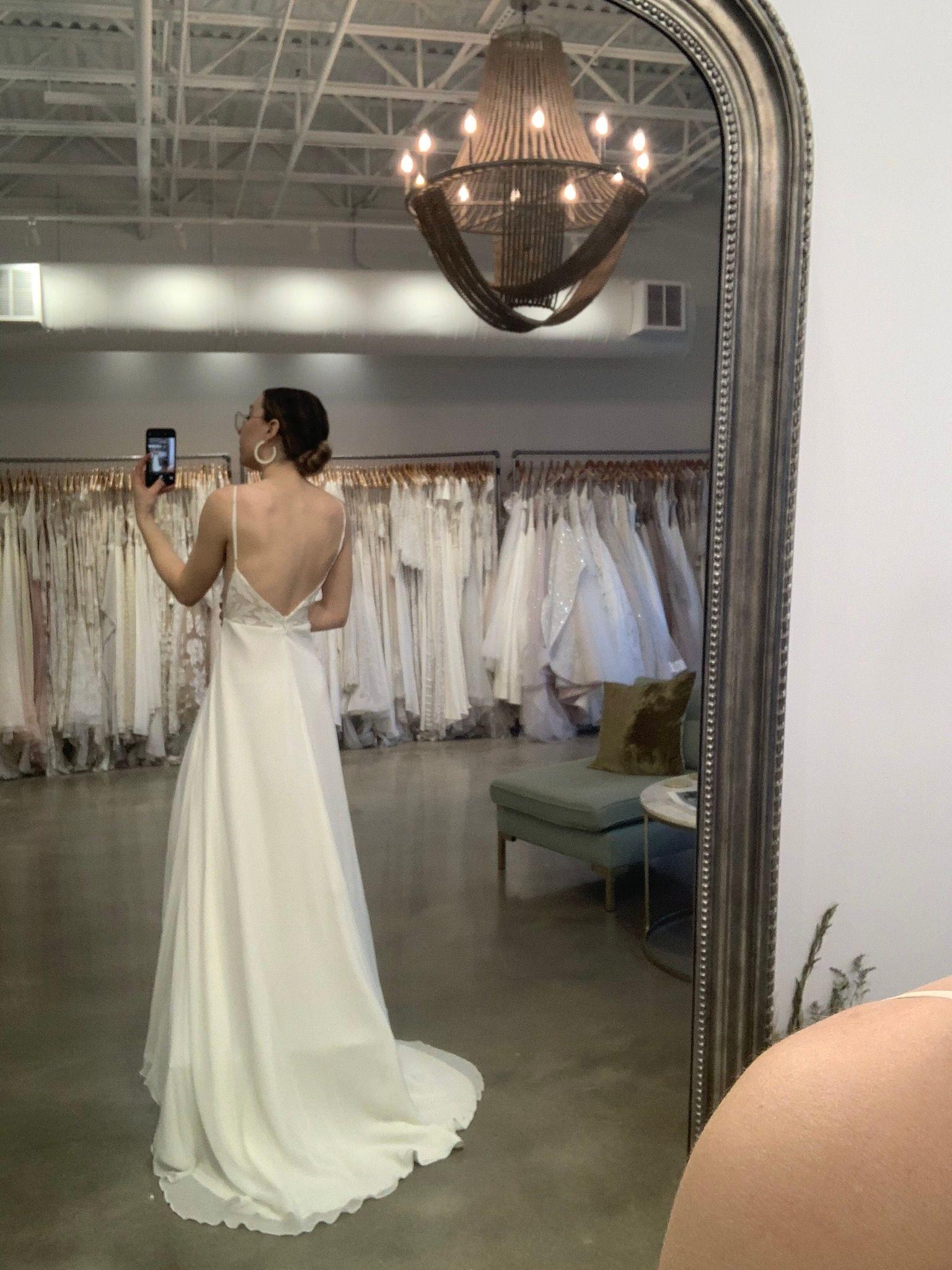 Sarah Seven at LVD Bridal in 2020 Wedding dress shopping