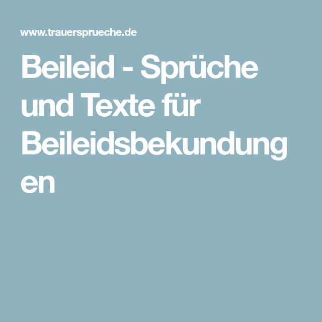 Beileid - Sprüche und Texte für Beileidsbekundungen | Trauer | Pinterest