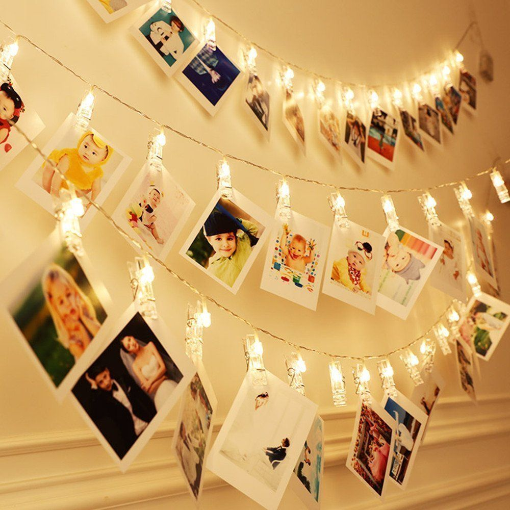 20 Luces Led Para Poner Fotos Fotos Colgantes Decoracion Con Fotos Guirnalda De Luces