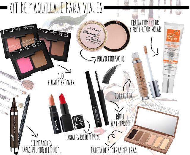 I want pretty: Makeup- Kit básico e ideas de maquillaje para viajes!