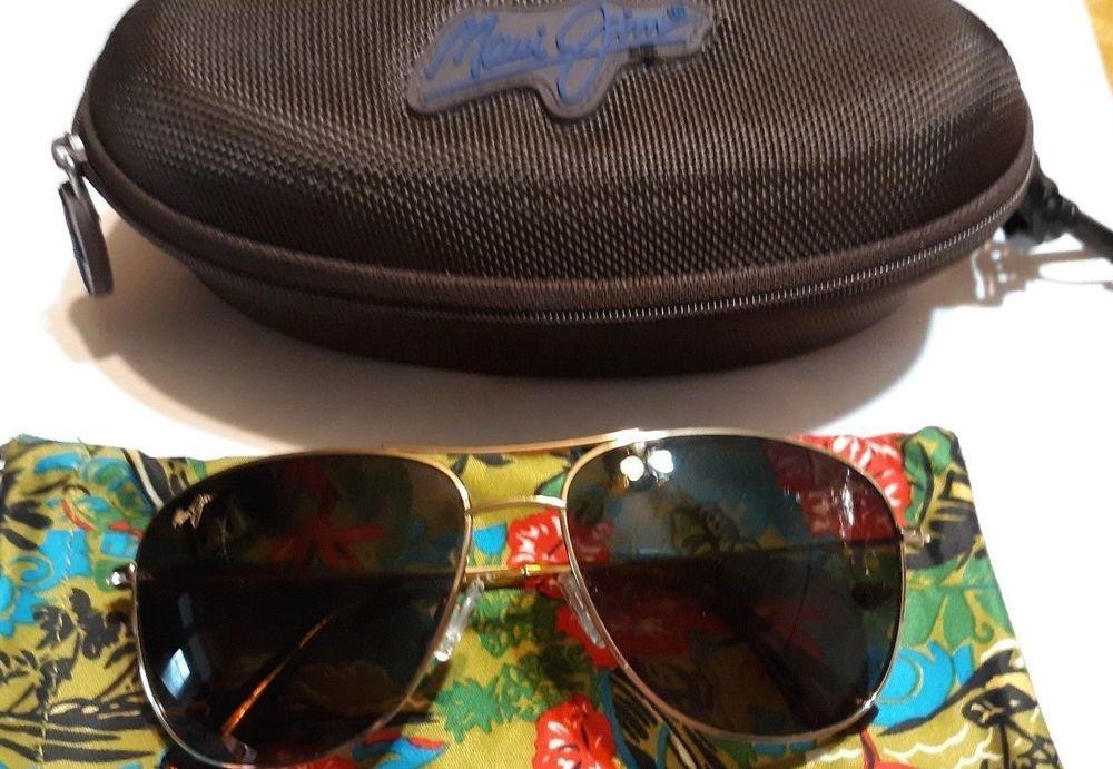 68d66ab73d50b Polarized MAUI JIM Sunglasses CLIFF HOUSE MJ 247-16 Gold Frame w HCL Bronze  Lens