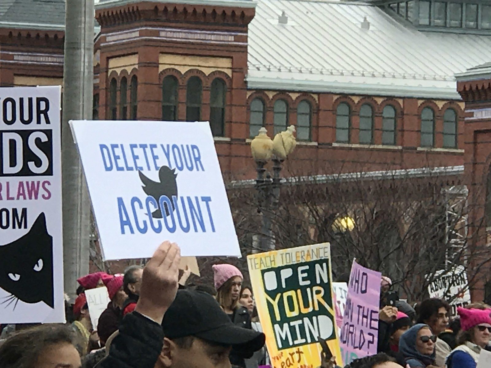 nice The Women's March Had A Demand For Trump: Delete Your Account