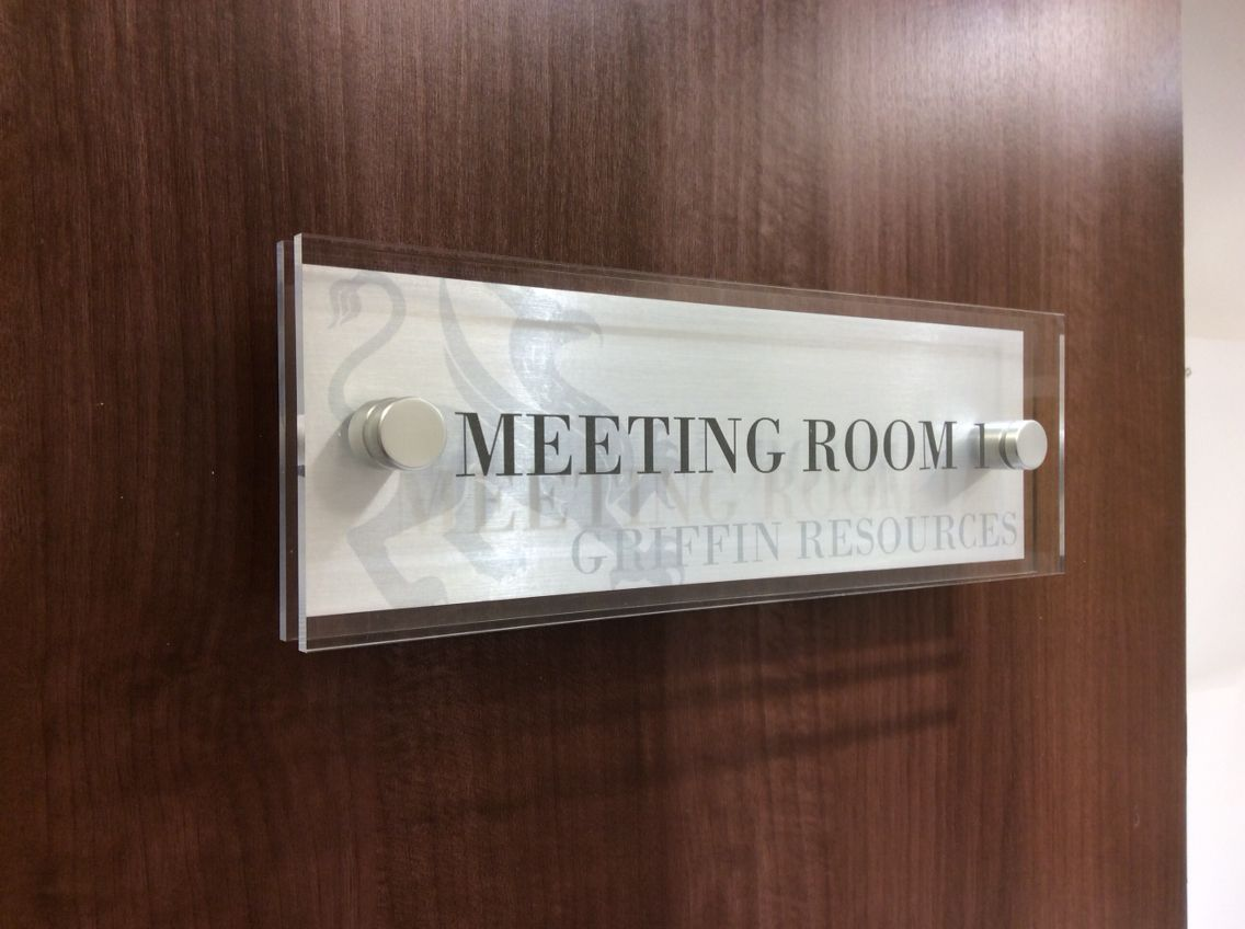 Double the Beauty of our standard signs - Our double layered highly polished Perspex Door Sign & Double the Beauty of our standard signs - Our double layered highly ...